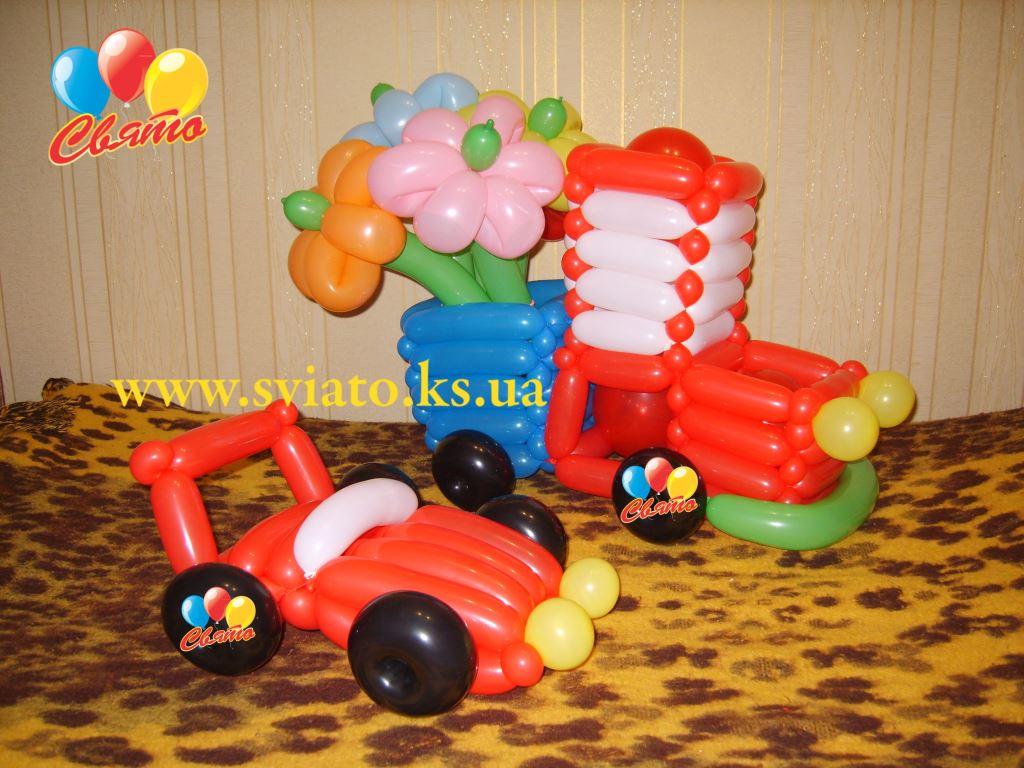 Машинка из шаров своими руками фото 776